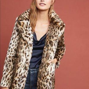 Marakesh leopard faux fur winter coat!